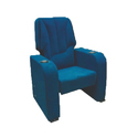 Blue Push Back Theater Chair
