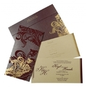 Kraft Paper Fancy Wedding Invitation Cards