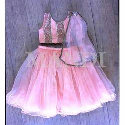 Pink Party Wear Little Baby Lehenga