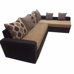 Modern L Shaped Sofa Cum Bed With Lounger