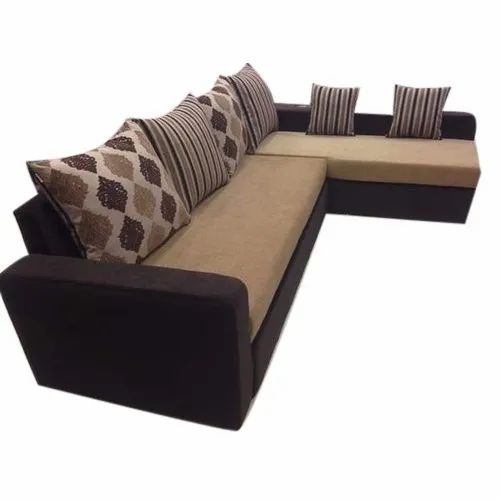 L Shaped Sofa Cum Bed With Lounger Storage