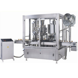 Automatic Four Head Rotary Liquid Piston Filling Machine Model-RRLF-40