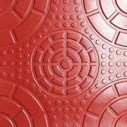 Orange Chequered Tiles, 8 - 10 mm, Size: Medium