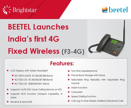 Beetel 4g Gsm Phone Fwp ( Fixed Wireless Phone )