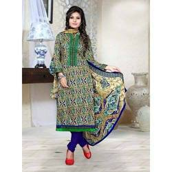 Printed Churidar Cotton Suit