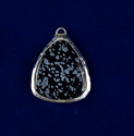 Snowflake Gemstone Pear Shape Silver Electroplated Pendant