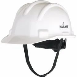 White Construction Safety Helmet