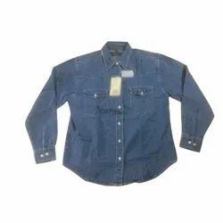 Collar Neck Mens Denim Shirt, Size: M-XXL