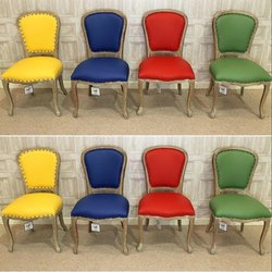 For Home Modern Leather Designer Chair, Size: 50*50*90cm