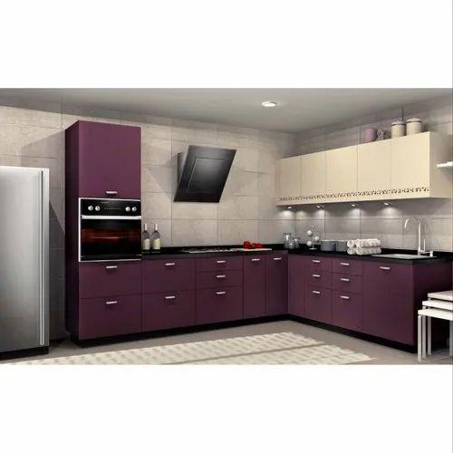 sleek world l shape modern pvc modular kitchen kitchen