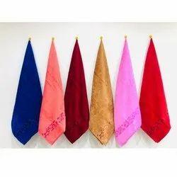 MD Decor Velvet Lily Velour Hand Towel, Size: 16x24 Inch