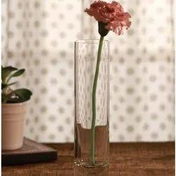 Transparent Glass Flower Pot