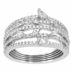 925 Sterling Silver Shank Design Wedding Ring