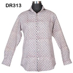 Cotton Hand Block Printed Men's Short Shirt DR313