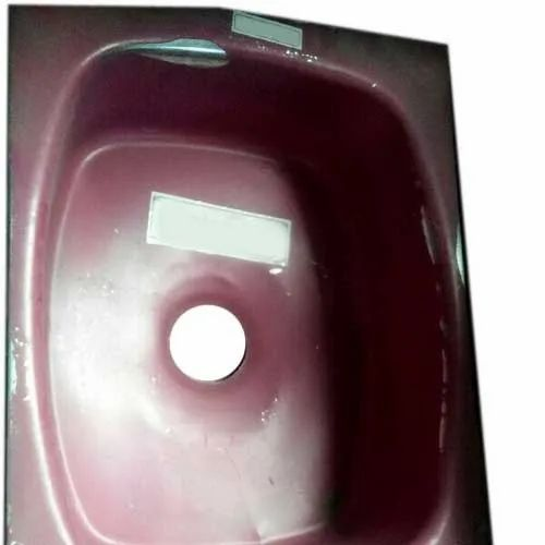 Single Stainless Steel Red Kitchen Sink