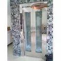 Glass Door Elevator with Stainless Steel