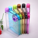 Plastic Screw Cap Notebook Bottle, For Drinking Water, Capacity: 250-420 Ml