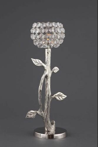 DHC Silver Crystal Candleabra, Size: 8 inch, for Weddings