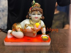 Marble Ladoo Gopal Statue