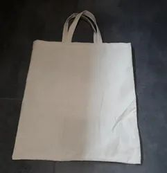 Cotton Plain Shopping Bags, Size: 15x18 inches