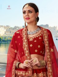 Designer Velvet Bridal Lehenga