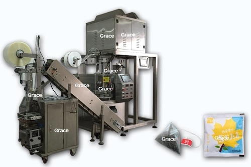 Automatic Triangle Pyramid Nylon Tea Bag Packing Machine with Outer Envelop, Rs 2000000 /set | ID: 11644486955