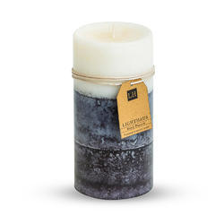 Triple Tone Scented Pillar Candle