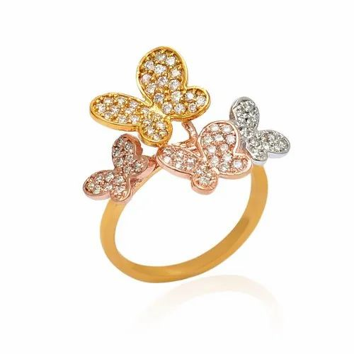 Fine Diamond Gold Ring Butterfly Designs