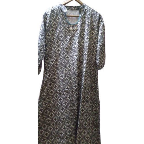 Printed Party Wear Ladies Cotton Gown
