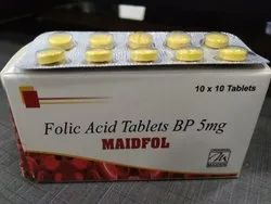 Folic Acid 5 Mg MAIDFOL (FOLIC ACID), Non prescription, 10*10