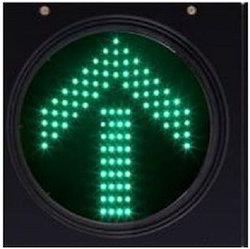 Solar Green Blinking Arrow