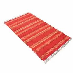 Cotton Striped Dhurrie Rug