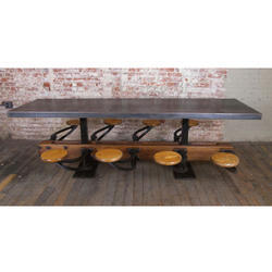 8 Seater Cafe Dining Industrial Furniture