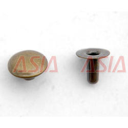 Asiawala Brass And Steel Rivet Buttons, Packaging Type: Plastic Bag
