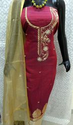 Banarasi Suits With Aari Work