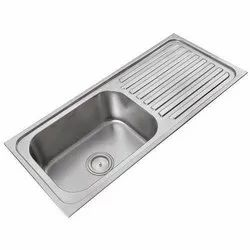 45x 20x 10 Stainless Steel Drain Board Kitchen Sink