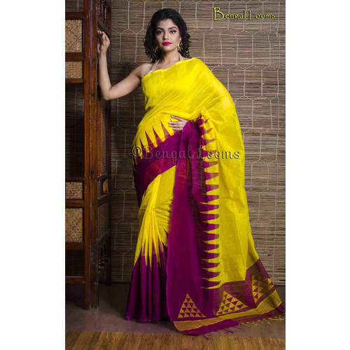 5f1f08abb52368 Khadi Sarees - Pure Handloom Khadi Soft Cotton Silk Saree in Navy ...