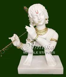 Marble Modern Krishna Statue