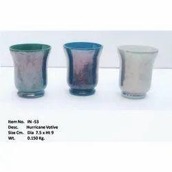 Hurricane Luster Glass Vase, Shape: Round