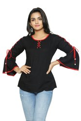 Yash Gallery Women's Rayon Solid Top