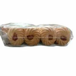 Sweet Badam Round Biscuits, Packaging Type: Packet