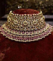 Golden SJ Anushka Sharma Wedding Necklace