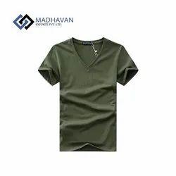 Cotton Plain V Neck T-Shirts