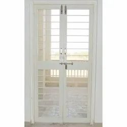 White Bifold Steel Door, For Home, Size/Dimension: 3-7ft