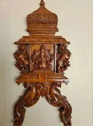 Wooden Ganesh Radham Wallmount
