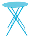 Bistro Outdoor Table Chairs Set-Turquoise