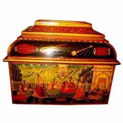 Wooden Maharaj Painted Box