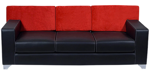 Zara 3 Seater Sofa In Red And Black Color