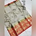 Pure Ethnic Cotton Silk With Peacock & Elephant Penal With Natural Zallar Latkan Saree