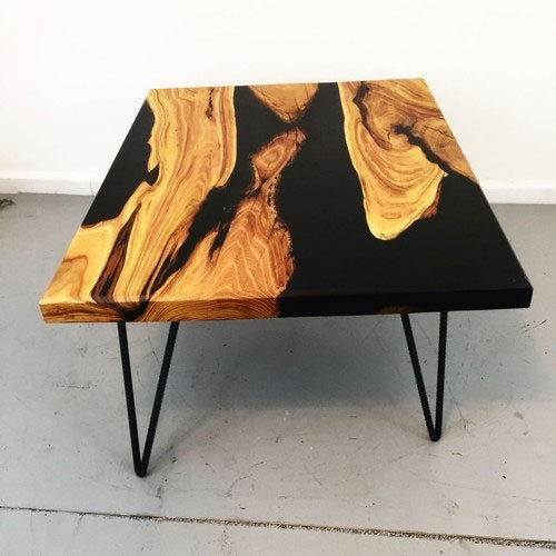 Brown And Black Epoxy Designer Black Coffee Table Rs 12400 Piece